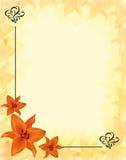 Floral corner design lilium Stock Images