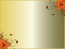 Floral Corner Design Lilium Royalty Free Stock Images