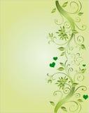 Floral corner design for wedding Royalty Free Stock Photo