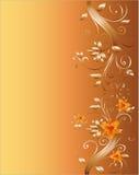 Floral corner design for wedding Royalty Free Stock Image