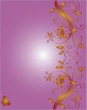 Floral corner design for wedding Stock Images