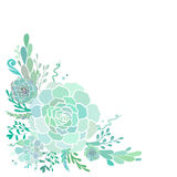 Floral corner with succulents Royalty Free Stock Photos