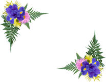 Floral Corners. 2 Floral photo corners isolated Royalty Free Stock Images