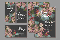 Floral cosmos flowers and crocus retro vintage background Stock Photo