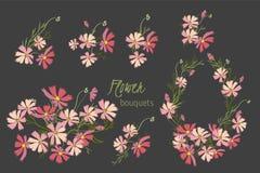 Floral cosmos retro vintage background Stock Image