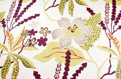 Floral cotton fabric Royalty Free Stock Photos