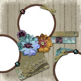 Floral Country Photo Frame Stock Photo