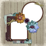 Floral Country Photo Frame Royalty Free Stock Photography