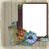 Floral Country Photo Frame Stock Photos