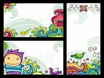 Floral cpmpositions 1 stock illustration