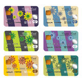 Floral credit cards Stock Images