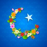 Floral crescent moon of Eid Royalty Free Stock Photography