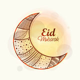 FLoral crescent moon for Eid festival celebration. Royalty Free Stock Photos