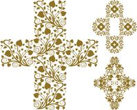 Floral cross Stock Images