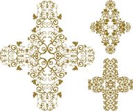 Floral cross Stock Photo