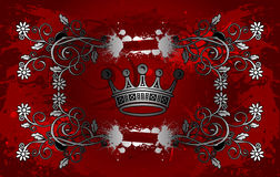 Floral Crown Background Stock Images