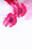 Floral crumpled fabric with red poppies . Stock Photo