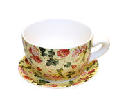 Floral cup Royalty Free Stock Image