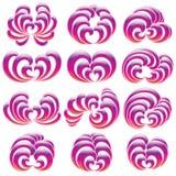 Floral Curls Illustration Set vector illustration