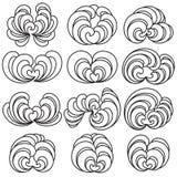 Floral Curls Illustration Set royalty free illustration
