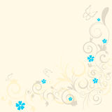 Floral curls pattern Stock Photos