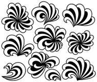Floral Curls Set vector illustration