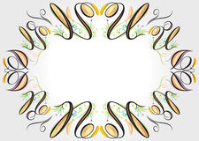 Floral curve elements stock images