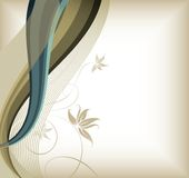 Floral and curve lines Stock Photo