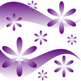 Floral curves. Purple floral curves design - VECTOR Royalty Free Stock Images