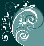 Floral curves background Stock Photo