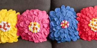 Floral cushions Royalty Free Stock Photography
