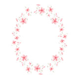 Floral cute frame Stock Image