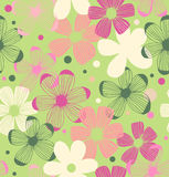 Floral cute pattern. Seamless romantic background with flowers Stock Image
