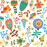 Floral cute seamless pattern. Royalty Free Stock Image