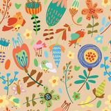Floral cute seamless pattern. Royalty Free Stock Photo