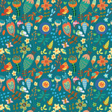 Floral cute seamless pattern. Stock Photo