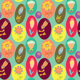Floral cute seamless pattern. Royalty Free Stock Photos