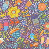 Floral cute seamless pattern. Royalty Free Stock Images