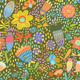 Floral cute seamless pattern. Stock Image
