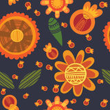 Floral cute seamless pattern. Cute seamless pattern.Bright Seamless pattern can be used for wallpaper, pattern fills, web page background,surface textures Stock Photo