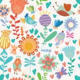 Floral cute seamless pattern. Cute seamless pattern.Bright Seamless pattern can be used for wallpaper, pattern fills, web page background,surface textures Royalty Free Stock Photos