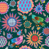 Floral cute seamless pattern. Cute seamless pattern.Bright Seamless pattern can be used for wallpaper, pattern fills, web page background,surface textures Stock Image