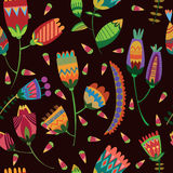 Floral cute seamless pattern. Stock Images