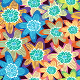 Floral cute seamless pattern. Royalty Free Stock Photography