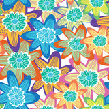 Floral cute seamless pattern. Stock Photography
