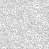 Floral 3d Seamless Background royalty free illustration