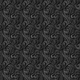 Floral 3d Seamless Black Paper Pattern Background Stock Images
