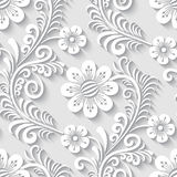 Floral 3d seamless pattern Stock Photos