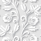Floral 3d seamless pattern Stock Photography
