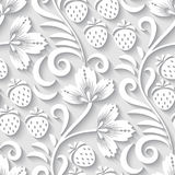 Floral 3d seamless pattern. Elegant 3d seamless floral pattern. Vector Illustration Royalty Free Stock Photos